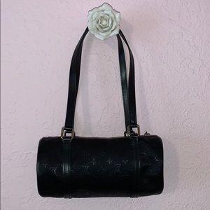 Louis Vuitton Satin Black Monogram Evening Bag
